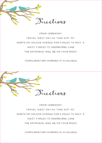 Love Birds Response Card (Print at Home)